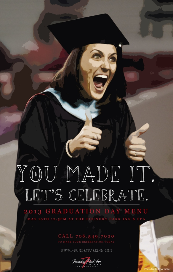 UGA Graduation Dining options 2013 at the Foundry Park Inn and Spa Athens GA